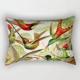 Vintage Hummingbird Illustration Rectangular Pillow