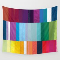 stripes Wall Tapestries featuring Stripes by Kakel