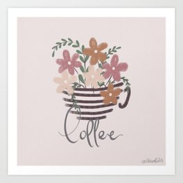 A cup of Flowers | Coffee Art Print