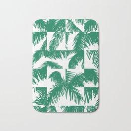 Palm Leaf Pattern Green Bath Mat