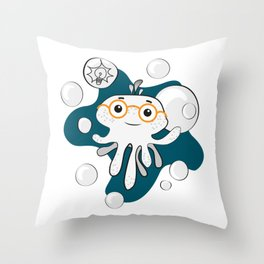 Octobaby - Smarty Throw Pillow