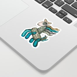 Blue Horse Sticker