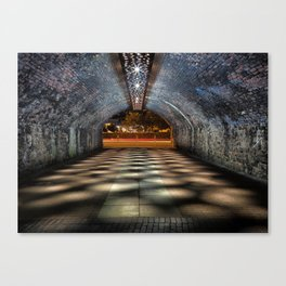 Tunnel of lights Canvas Print