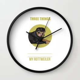 Don't Mess With: Family Freedom Rottweiler Wall Clock