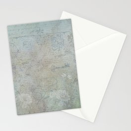 French Blue Vintage Wallpaper Stationery Cards