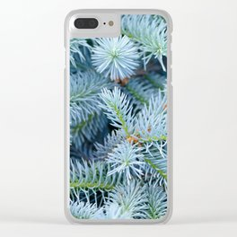 Fir branches background Clear iPhone Case