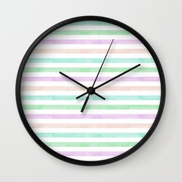 summertime: candy stripes Wall Clock