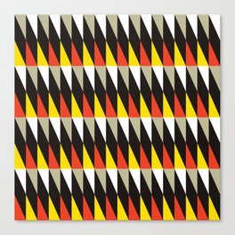Midcentury red, black, grey & yellow Canvas Print