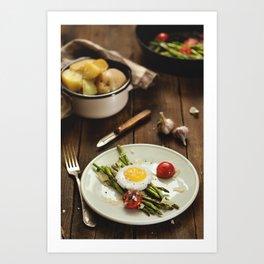 Rustic Food. Art Print