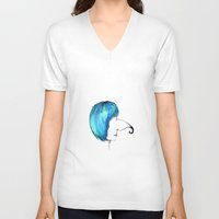 interstellar V-neck T-shirts featuring Interstellar by Big Shark