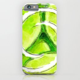 A twist of lime (lite) iPhone Case