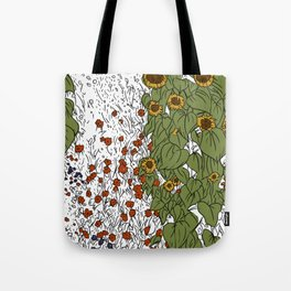 Great Prairie with Sunflowers Tote Bag
