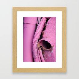 pink tube Framed Art Print