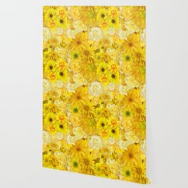 Yellow Rose Bouquet with Gerbera Daisy Flowers Wallpaper