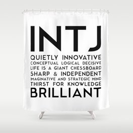 INTJ Shower Curtain