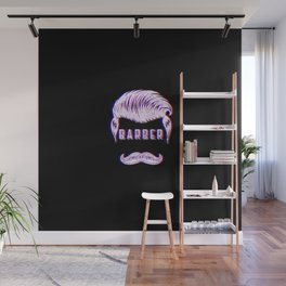 Barber Funny Vintage Classic Barber Retro Distressed Gift Wall Mural