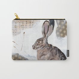 There's a Great Day Coming - Brown Rabbit Carry-All Pouch