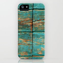 Rustic Teal Boards (Color) iPhone Case