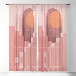 Abstraction_SUN_Architecture_Minimalism_001 Sheer Curtain