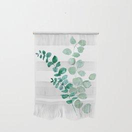 Watercolor eucalyptus leaves Wall Hanging