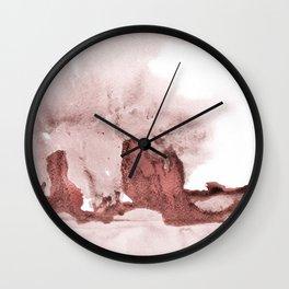 marsala and pink Wall Clock