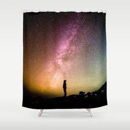Galaxy Explorer Shower Curtain