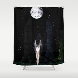 Draw Down Shower Curtain