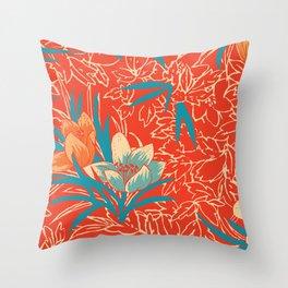 Retropico ~ Orange Throw Pillow
