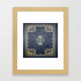 Gilded Gold and Blue Book Framed Art Print