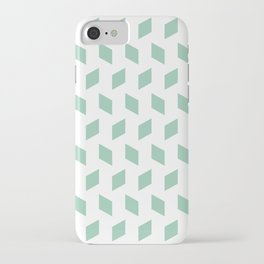 rhombus bomb in grayed jade iPhone Case