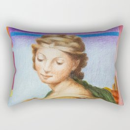 Sta Barbara. after Raphael Rectangular Pillow