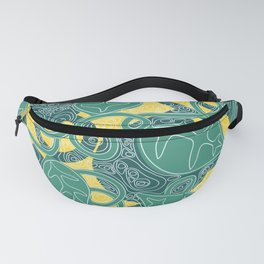 Day Leaf Topography Fanny Pack
