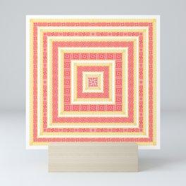 Slavic Square Mandala - Odolen Trava - Symbol #2 Mini Art Print