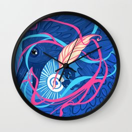 A Raven Memory Wall Clock