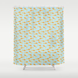Goldfish and Bubbles Shower Curtain