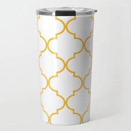 Quatrefoil - Butterscotch yellow Travel Mug