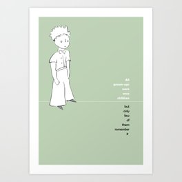LE PETIT PRINCE -the little prince- Art Print