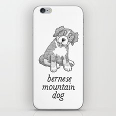 Dog Breeds: Bernese Mountain Dog iPhone & iPod Skin