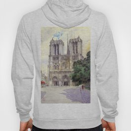 """Cass Gilbert """"Cathedral of Notre Dame, Paris"""" (1933) Hoody"""