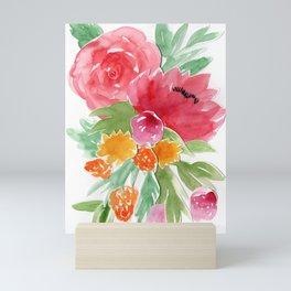 Floral Watercolor Bouquet Mini Art Print