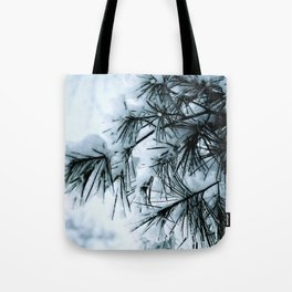 Snow Laden Pine - A Winter Image Tote Bag