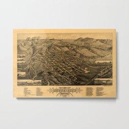 Map Of Butte 1884 Metal Print