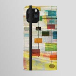 Mid-Century Modern Art 1.3 -  Graffiti Style iPhone Wallet Case