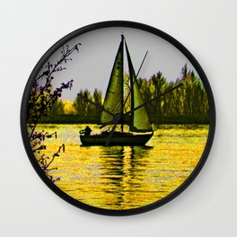 Delta sailing Wall Clock