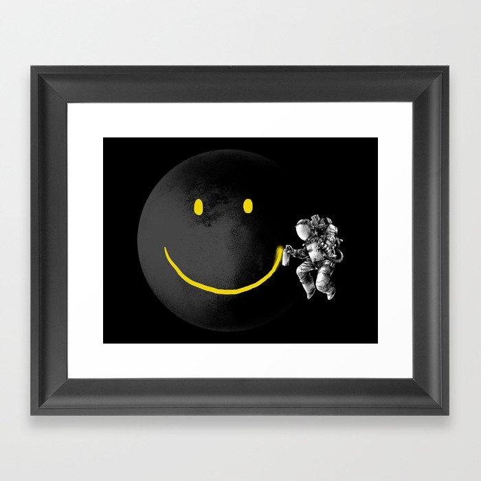 Make a Smile Gerahmter Kunstdruck