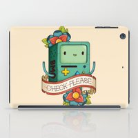 bmo iPad Cases featuring BMO | CHECK PLEASE by Daniel Mackey