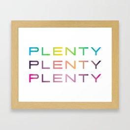 Plenty #lotstolove #plussize #curvey Framed Art Print