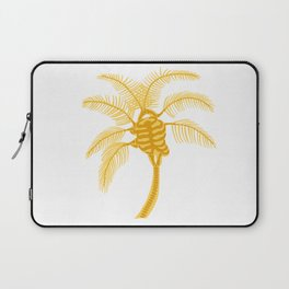 Skeleton Palm Tree White Laptop Sleeve