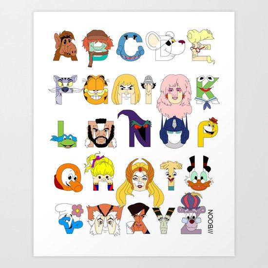 Child of the 80s Alphabet Art Print