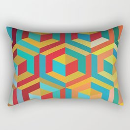 Lonely Cubes In Rooms Rectangular Pillow